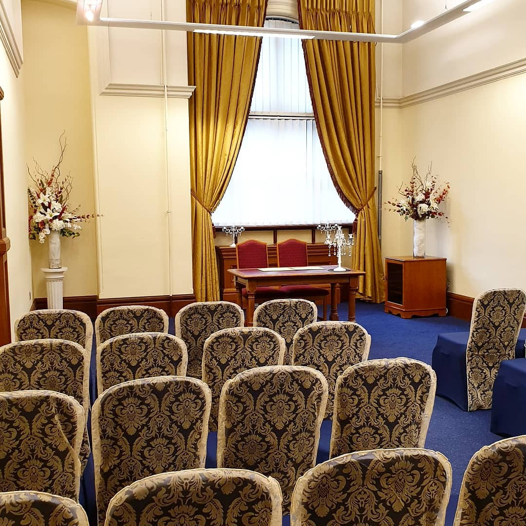 The Hallam Ceremony Room at the Town Hall.